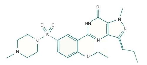 Composition chimique du sildénafil